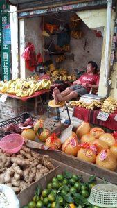 Auf dem Markt: Kein Stress ...